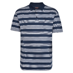 NEW - ESPIONAGE STRIPE POLO 2 - 8XL