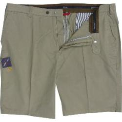 CLEARANCE -   OAKMAN Comfort Stretch Sulpher Washed Cotton Shorts NATURAL 44""
