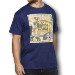 SALE - REPLIKA JEANS Licensed Music Legend Tee THE BEATLES NAVY 2 - 7XL