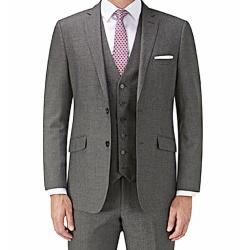 CLEARANCE -  OAKMAN 'LIFE AND LIMB'  FORMAL JACKET with Lycra PLAIN GREY 48 -  50""