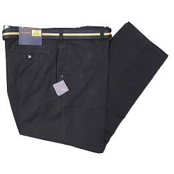 CLEARANCE -  OAKMAN Casual Cotton Twill Soft touch Chino with belt BLACK 44 -46""