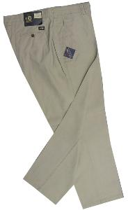CLEARANCE -  OAKMAN GB Premium Collection - Linen/Cotton Casual Chinos 44 - 62""