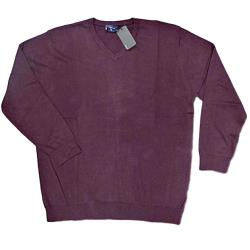 ESPIONAGE  Cotton vee Neck Pullover  WINE 2 - 6 XL