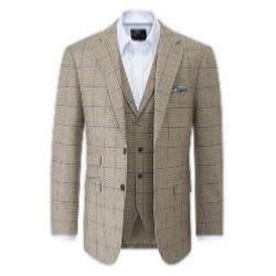 "SKOPES LIGHTWEIGHT CHECK SPORTS JACKET  BROWN BEVINGTON 54 - 62"" CHEST"