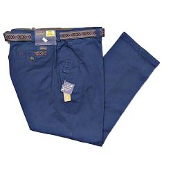 CLEARANCE -   OAKMAN Sulpher Dyed Cotton Chinos  with Active Stretch Lycra TWILIGHT 44-48""""
