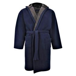 BRAND NEW-  Espionage Hooded Fleece Gown NAVY  3 - 8XL