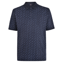 NEW - ESPIONAGE GEOMTERIC PRINT POLO 2 - 8XL
