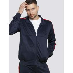 D555 COUTURE KINGSIZE TRACKSUIT ZIP UP JACKET BROOKES NAVY 3 - 6XL