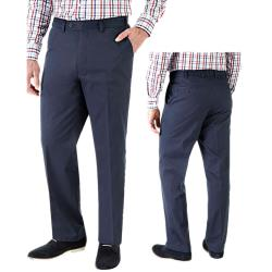 "SKOPES Cotton Casual Chinos with Active Stretch Comfort Waist  CLOVELLY NAVY 44 - 62"" S/R"