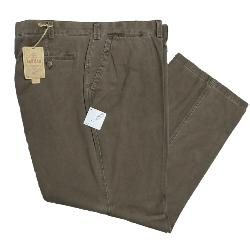 CLEARANCE - OAKMAN Sulpher dyed Vintage washed Cotton Chino BROWN 44""
