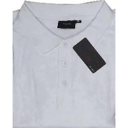 ESPIONAGE Natural Cotton Pique Polo Shirts WHITE 2 - 8XL