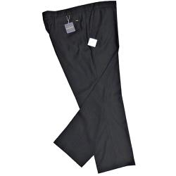 CLEARANCE -   OAKMAN Crease resistant Smart-Casual trousers  BLACK 44 - 50""