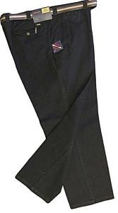 CLEARANCE -  OAKMAN Active Stretch Rugged Chinos with belt BLACK 44""
