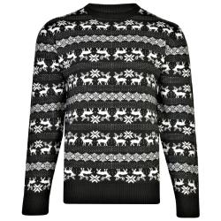 KAM  CHRISTMAS REINDEER JUMPER CHARCOAL 3 - 8XL