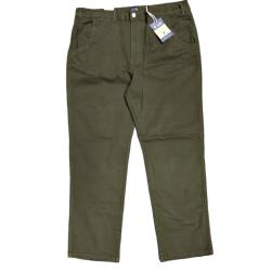 "KAM Comfort Cotton Chino with active stretch KHAKI 40 - 70"" Short and Regular"