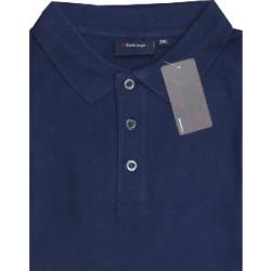 ESPIONAGE Natural Cotton Pique Polo Shirts NAVY 2 - 8XL