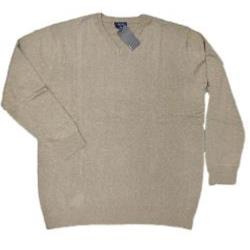 ESPIONAGE  Cotton Vee Neck Pullover OATMEAL 2 - 6XL
